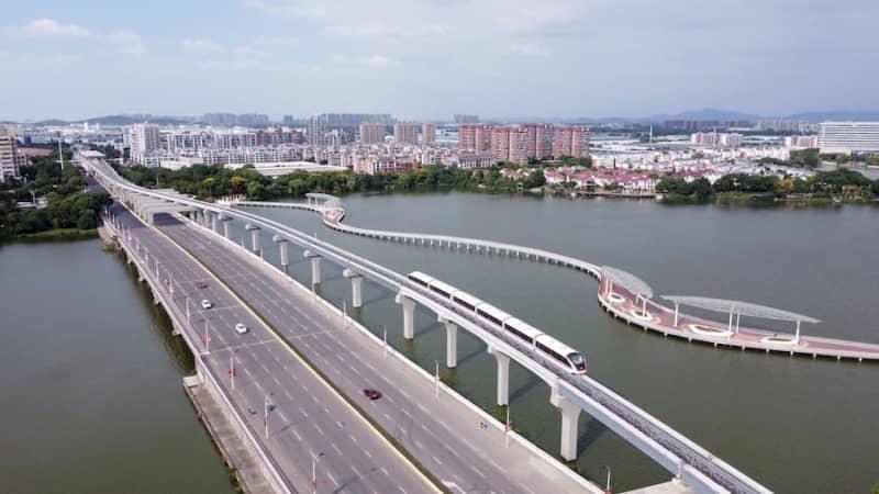 中国初の自動運転跨座式モノレールが登場―安徽省蕪湖市